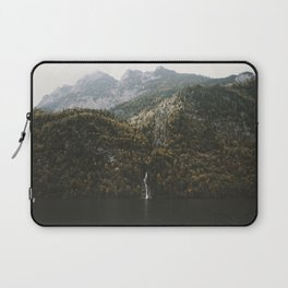 Autumn Waterfall at the Mountain Lake - Landscape Photography Laptop Sleeve