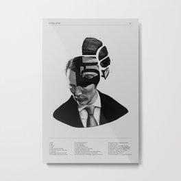 Hannibal Lecter Phrenology Metal Print