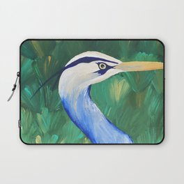 Heron in the Grass Laptop Sleeve