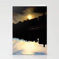 dallas Stationery Cards featuring Dallas Sunfall by k-foto