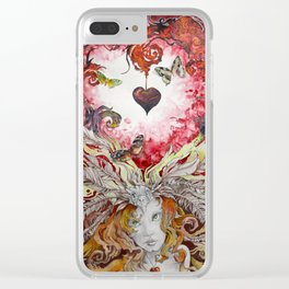 Lava Heart Clear iPhone Case