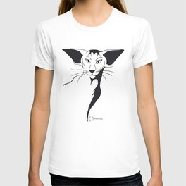 Mean look with a gentle heart T-shirt