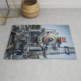 Frisco Locomotive 4500 The Meteor Steam Train Engine Rug