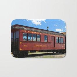 Red Railroad Car - Cumbres And Toltec Bath Mat
