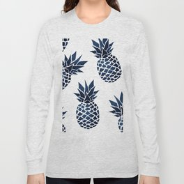 Pineapple Blue Denim Long Sleeve T-shirt