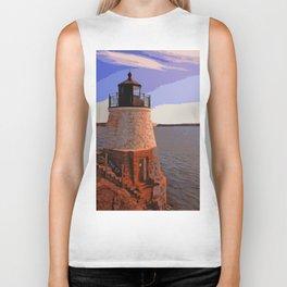 Castle Hill Lighthouse, Newport, Rhode Island Biker Tank