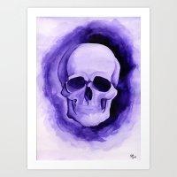 Violet - Original Watercolor Painting By Sophia Hanna Art Print