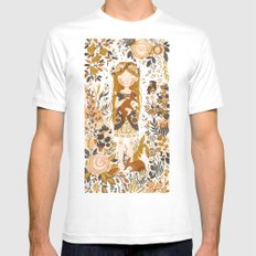 The Queen of Pentacles White Mens Fitted Tee MEDIUM