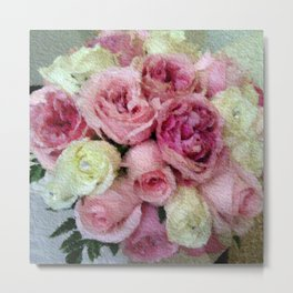 Gorgeous light pink and mauve wedding bouquet Metal Print