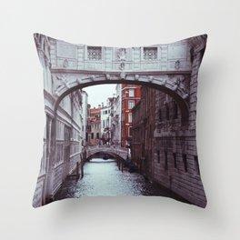 Bridge of Sighs Throw Pillow