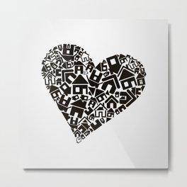 Heart the house Metal Print