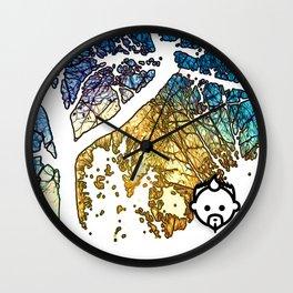 Snowburst by JC LOGAN 4 SB Wall Clock