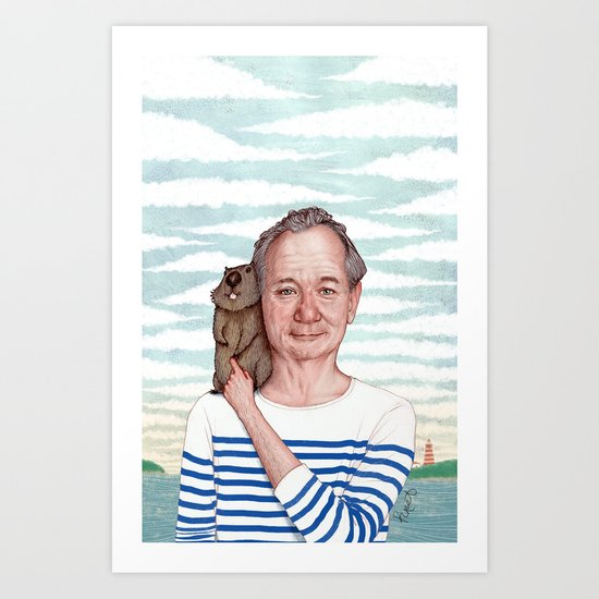 Bill Murray - Jason Raish Art Print