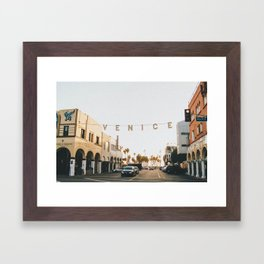 venice / los angeles, california Framed Art Print