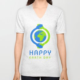 Happy Earth Day T Shirt Unisex V-Neck