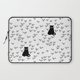 Cat and Birds with Attitude Laptop Sleeve