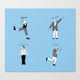 Chicken Dance The Night Alway  Canvas Print