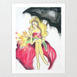 Spring Showers Art Print