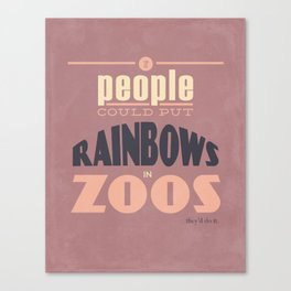 Rainbows in Zoos Canvas Print