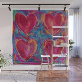 Work of Heart Wall Mural