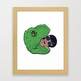 Dinosourprise Framed Art Print