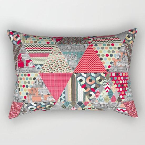 London triangle quilt Rectangular Pillow