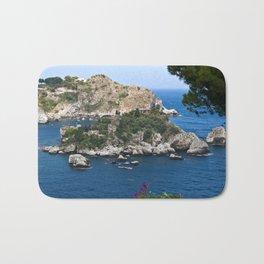 Isola Bella on the bay of Taormina Bath Mat