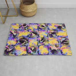 Abstract Square Pattern Art Rug