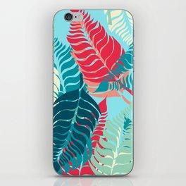 Leave Me Layered (Aqua Red) iPhone Skin