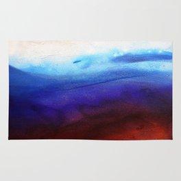 Ruby Tides - Original Abstract Art Rug
