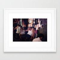 hong kong Framed Art Prints featuring Hong Kong by KunstFabrik_StaticMovement Manu Jobst