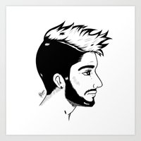 zayn Art Prints featuring Zayn by Julieta Cabrera