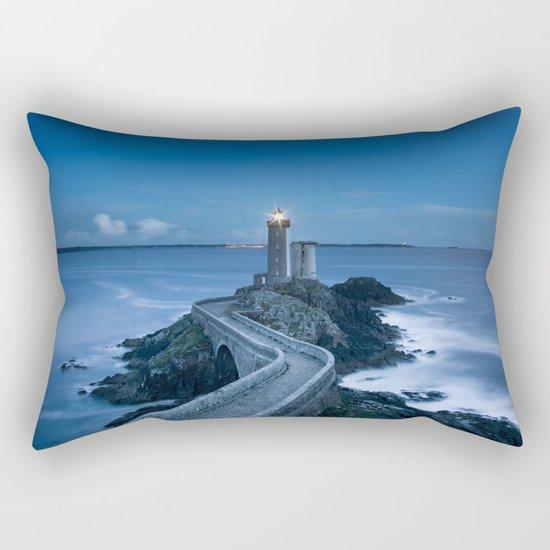 Lighthouse blue Rectangular Pillow