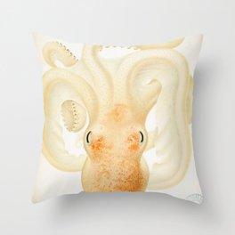 Peachy Keen Octopus Circa 1898 Throw Pillow