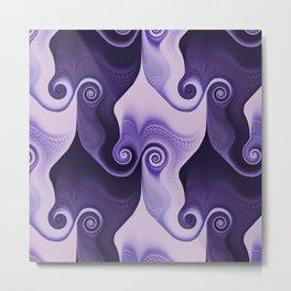 Swirly Spiral Metal Print