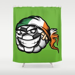 Football - Ireland Shower Curtain