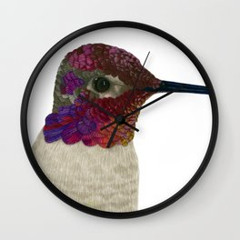 Anna's Hummingbird Wall Clock