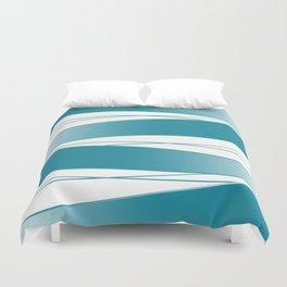 White and blue Duvet Cover