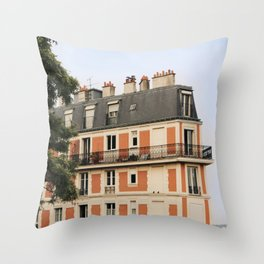 paris house Throw Pillow