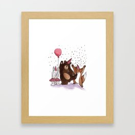 Let's party! Framed Art Print