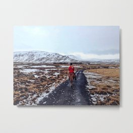 Ice road Metal Print