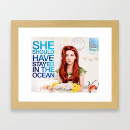 She should have stayed in the ocean Framed Art Print