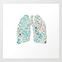 breathing in white Art Print