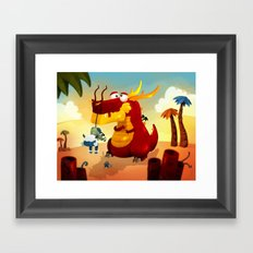 Dragonnet Rouge Framed Art Print