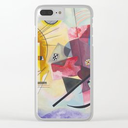 Wassily Kandinsky - Yellow Red Blue Clear iPhone Case