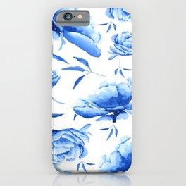 Blue peony 2 iPhone Case