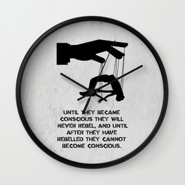 George Orwell - 1984 - Rebellion Wall Clock