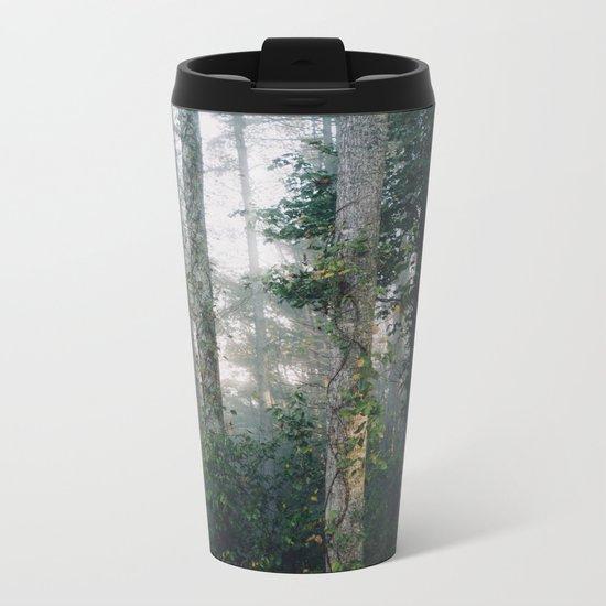 forest fog Metal Travel Mug