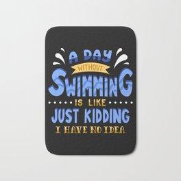 Swimming Swim Gifts Bath Mat