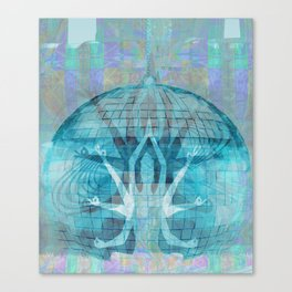 Blue Kali Goddess Visionary Canvas Print